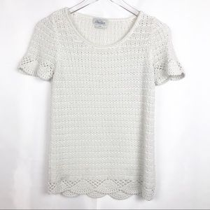 Madewell | Wallace open knit short sleeve top.